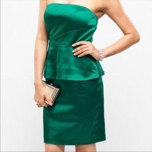 Gianni Bini Green Peplum Cocktail Dress